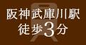 阪神武庫川駅徒歩3分